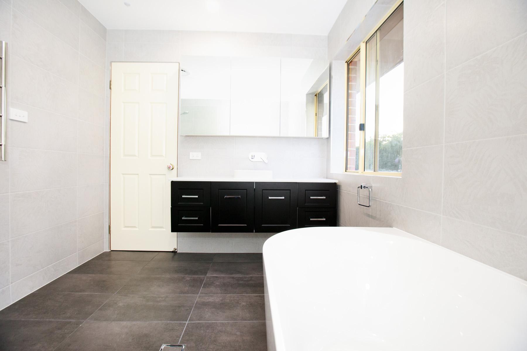 modern bathroom belle bathrooms Rydalmere australia